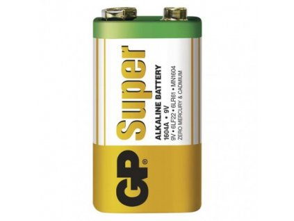 Alkalická baterie GP Super 6LF22 (9V) fólie
