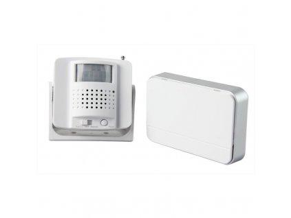Solight bezdrátový hlásič pohybu/gong, externí PIR čidlo, napájení bateriemi, bílý (1D05)