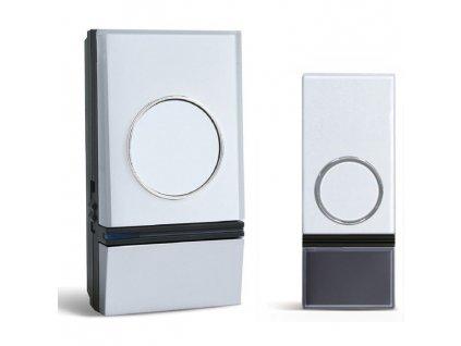 Solight bezdrátový zvonek, do zásuvky, 200m, bílý, learning code (1L28)
