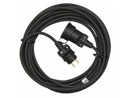1 fázový prodlužovací kabel 20m, 3x1,5mm, černý, guma  - Emos (PM0503)