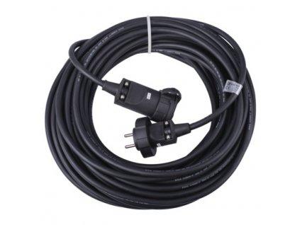 1 fázový prodlužovací kabel 20m, 3x2,5mm, černý, guma - Emos (PM1011)
