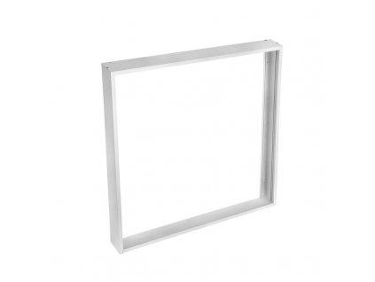 Hliníkový stříbrný rám pro instalaci LED panelů o rozměru 595 x 595 mm na stropy a zdi, výška 50mm - Solight (WO906)