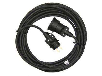 1 fázový prodlužovací kabel 10m, 3x1,5mm, černý, guma - Emos (PM0501)