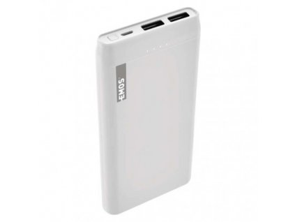 Powerbanka EMOS Alpha 10S, 10000 mAh, bílá