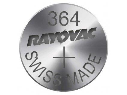 Knoflíková baterie do hodinek RAYOVAC 364 blistr