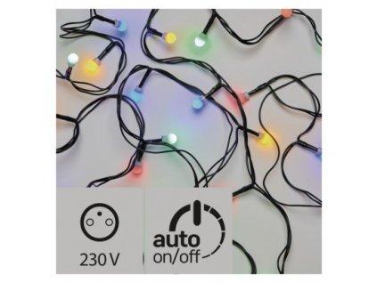 Vánoční LED řetěz - kuličky - 80xLED, 8+5 metrů, IP44, multicolor, časovač - Emos (ZY0911T)