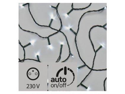 Vánoční LED řetěz - rýže - 180xLED, 18+5 metrů, IP44, studená bílá, časovač - Emos (ZY0804T)