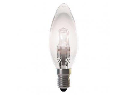 Halogenová žárovka ECO Candle 28W E14 teplá bílá,stmívatelná