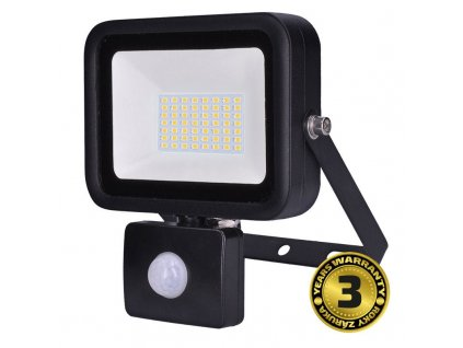 LED reflektor PRO se senzorem - 50W, 4250lm, 5.000° K, IP44 - Solight (WM-50WS-L)