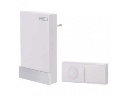 Bezbateriový domovní bezdrátový zvonek - 100m, bílý - Emos (P5726)