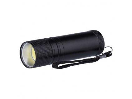 LED svítilna kovová, 3W COB LED, na 3x AAA černá - Emos (P3894)