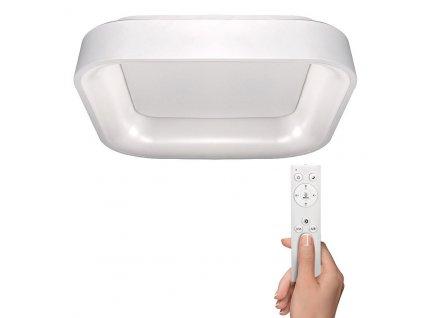 LED stropní světlo čtvercové Treviso - 48W, 2880lm, stmívatelné, dálkové ovládání, bílá - Solight (WO769-W)