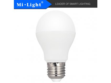 SMART LED žárovka CCT - 6W, E27, CCT, 220°, 500lm, klasický tvar - MiBoxer (FUT017) - 01