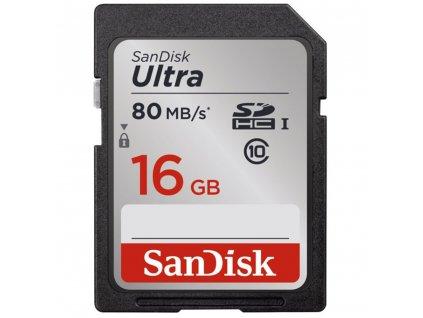 Paměťová karta ULTRA SDHC 16GB 80MB/s UHS-I - Sandisk