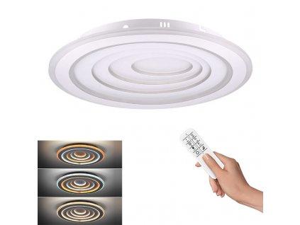 LED stropní kulaté světlo Cascade - 76W, 4180lm, dálkové ovládání - Solight (WO757)