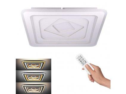 LED stropní čtvercové světlo Cascade - 86W, 4730lm, dálkové ovládání - Solight (WO758)