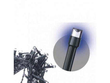 Spojovací LED řetěz - 100xLED, 10 metrů, IP44, modrá - Emos (ZY1928)