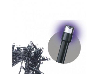 Spojovací LED řetěz - 100xLED, 10 metrů, IP44, fialová - Emos (ZY1930)