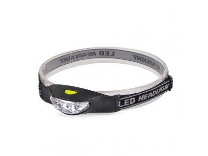 Čelová LED svítilna, 3x LED, černo-šedá, 2x CR2032 - Solight (WH17)