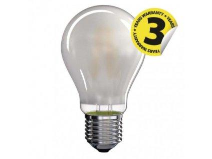 LED žárovka Filament - Classic A60 - 6,5W, 806lm, E27, teplá bílá, matná - Emos Lighting (Z74265)