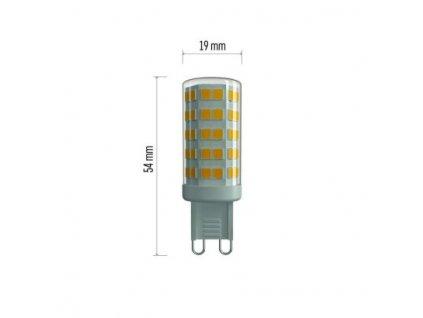 LED žárovka Classic JC A++ 4,5W G9 neutrální bílá - Emos (ZQ9541)