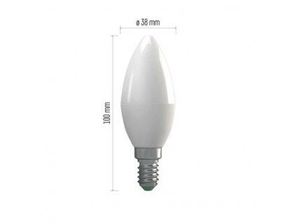 LED žárovka Classic Candle 4W E14 teplá bílá (WW)