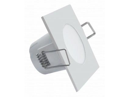 LED bodové vestavné svítidlo BONO IP65/20 - 5W NW bílá hranaté - Greenlux GXLL023