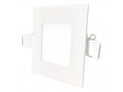 LED vestavné svítidlo VEGA -3W, 190lm, teplá bílá (WW), IP44, hranaté, bílé - Greenlux (GXDW200)