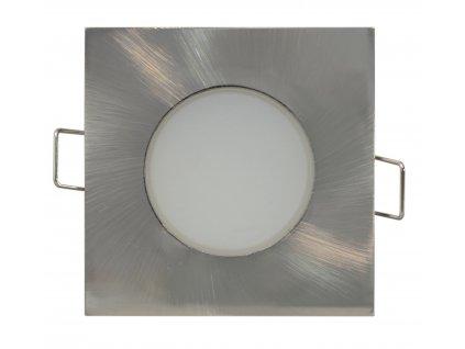 LED bodové vestavné svítidlo BONO IP65/20 - 5W NW matný chrom hranaté - Greenlux GXLL027