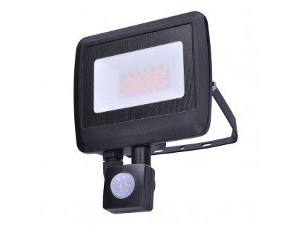 LED reflektor Easy se sensorem - 30W, 2400lm, neutrální bílá (NW), IP44, černý - Solight (WM-30WS-O)
