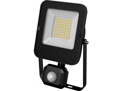 LED reflektor s čidlem ALFA PIR SMD - 30W, 3000lm, studená bílá (CW), IP44, hranaté, černé - Greenlux ( GXLR054)