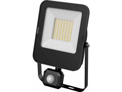 LED reflektor s čidlem ALFA PIR SMD - 50W, 5000lm, studená bílá (CW), IP44, hranaté, černé - Greenlux (GXLR056)