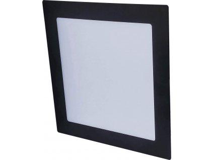 LED vestavné svítidlo VEGA - 18W, 1350lm, teplá bílá (WW), IP44, hranaté, černé - Greenlux (GXDW361)