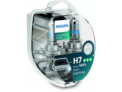 H7 Philips X-tremeVision Pro +150% (2 ks) - 12V, 55W, PX26d - Philips (12972XVPS2)