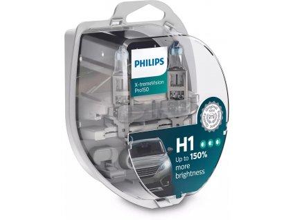 H1 Philips X-tremeVision Pro +150% (2 ks) - 12V, 55W, P14,5s - Philips (12258XVPS2)