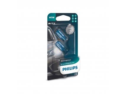 W5W Philips X-tremeVision Pro +150% (2 ks) - 12V, 5W, W2,1x9,5d - Philips (12961XVPB2)