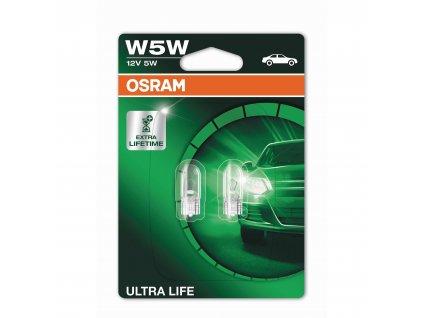 W5W Osram Ultra Life (2 ks) - 12V, 5W, W2.1x9.5d - Osram (2825ULT-02B)
