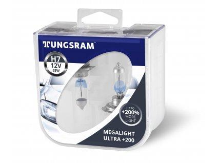 H7 Megalight Ultra +200% - 55W, 12V, PX26d (2 ks)  - Tungsram (58520XHU)