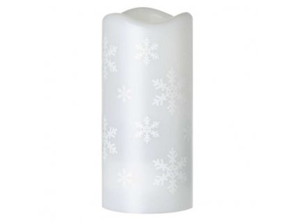 LED dekorativní projektor – vločky, 3x AAA, vnitřní, studená bílá