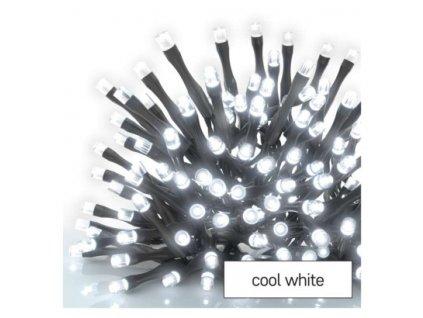 Standard LED spojovací vánoční řetěz – rampouchy, 2,5 m, venkovní, studená bílá, časovač