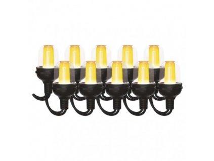 LED světelný řetěz – 10x párty žárovky, 4,5 m, venkovní i vnitřní, vintage