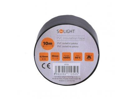 Solight izolační páska, 30mm x 0,13mm x 10m, černá