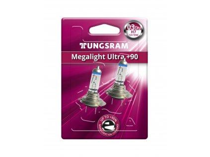 H7 Megalight Ultra +90% (2 ks) - TUNGSRAM (58520SXU;98016172)