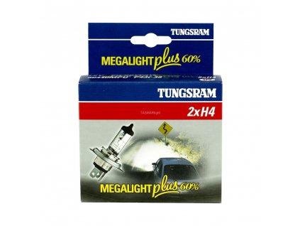 H4 Megalight Plus +60% (2 ks) - Tungsram (513276)