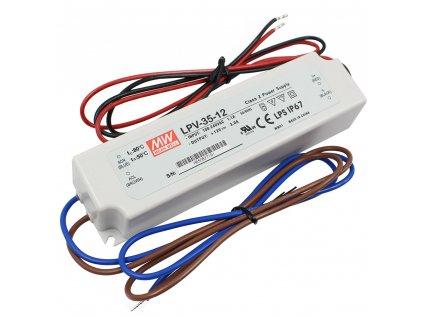 Napájecí zdroj pro LED - 36W/12V/3A/IP67 - Mean Well (LPV-35-12)