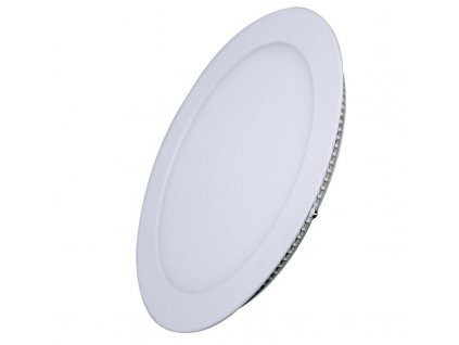 LED podhledový mini panel - 6W, 400lm, WW - 3000K, kruh, bílý - Solight (WD101)