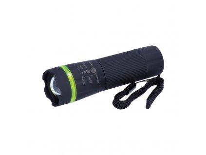 LED svítilna, 1W LED, fokus, protiskluzový povrch, 3 x AAA, černá - Solight (WL07A)