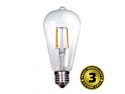 LED žárovka retro, EDISON ST65, 8W, E27, 3000K, 360°, 810lm - Solight (WZ526)
