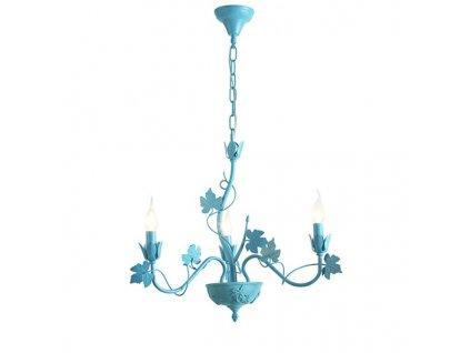 47192 zavesne svitidlo 58cm 3 ramena matna modra aca lighting eg170605pb