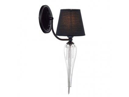Nástěnné svítidlo | Ø15cm, matná černá + nikl | Aca Lighting (EG170301WBCH)